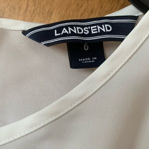 Lands' End Tops - Land's End - White Peplum Top